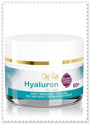 WRINKLE FILLER FACE CREAM CONCENTRATE 60+ HYALURON ACID COLLAGEN  50ml