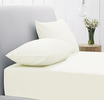5 Job Lot Cream Extra Deep Fitted Bed Sheets Double Ultra Fresh Poly Cotton
