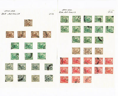 Malaya - Federated Malay States 1904/1922 Selection Of Gu/fu Stamps (2 Scans)