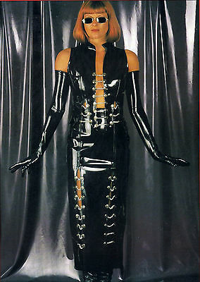 The Federation Rubber Latex  Waistcoat Top  Chain & Button Front New