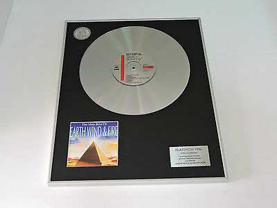 EARTH WIND & FIRE the very best DISCO DE PLATINO cd PLATINUM DISC RECORD