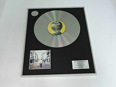 OASIS what's the story, morning glory? DISCO DE PLATINO cd PLATINUM DISC RECORD