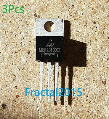 3X MBR20100CT MBR20100 MBR20100C Schottky Diodes et redresseurs 20A 100 V TO-220