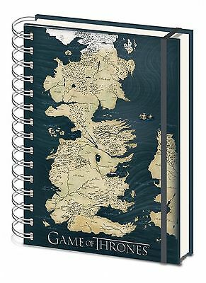 Official Game Of Thrones Map Westeros A5 Notebook TV Gift Notepad Jotter