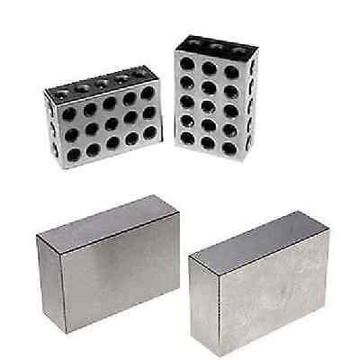 "Two Pair 1-2-3"" Block Ultra Precision No Hole And 23 Holes"