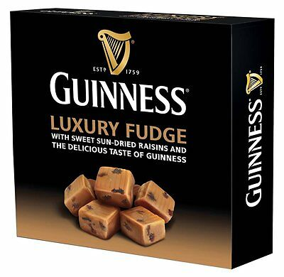 Guinness Luxury Fudge With Raisins Box Of Sweets- Candy Gift Box 170g