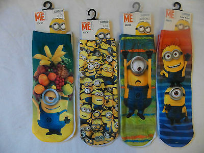 DESPICABLE ME / MINIONS Ankle Socks for Kids - 4 DESIGNS