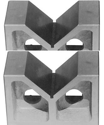 "Brand New One Pair 4"" Cast Iron  V- Blocks 4 X 1-5/8 X 2-5/8"""