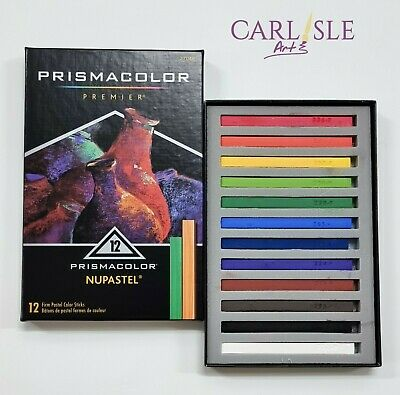 Prismacolor Nupastel Set, 12 Coloured Pastels Heavy Cardboard Box Set