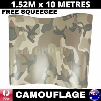 1.52M X 10M Camouflage Desert Vinyl Car Wrap Film Sticker Air Bubble Free