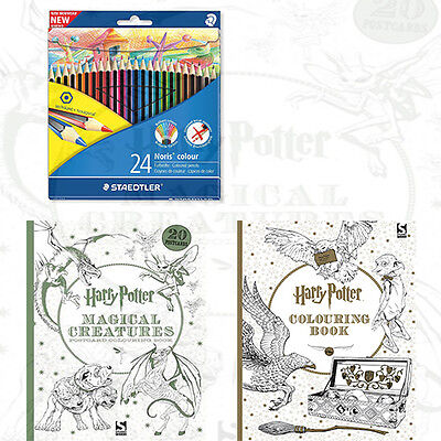 Harry Potter Colouring Book 2 Books Collection Set Noris Colouring Pencil,New