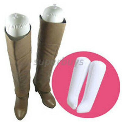 Blow up Inflate Balloon Boot Shoe Shapers Tall Insert Shape Support Stand Holder