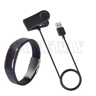 USB Charging Cable Clip Sync Data Cord Charger For Polar Loop 1 & 2 Tracker