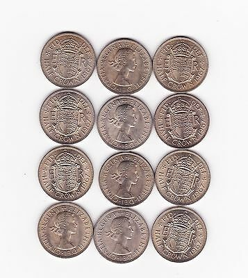 12 Half Crowns Dated 1967 In Near Mint To Mint Condition