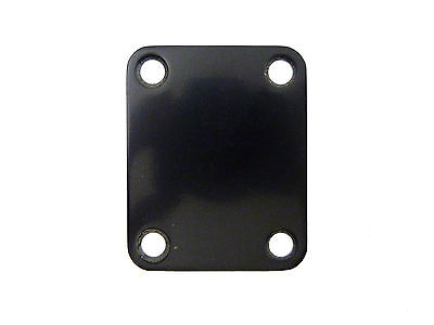 Black 4-Hole Guitar Neckplate (No screws, sorry!)