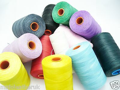 1 Reel flat leather sewing waxed thread 1mm thick 500 mtr. No. SIM