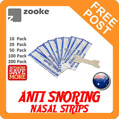 Anti Snore Nasal Strips to help Breathe Right Breathe Better Stop Snoring