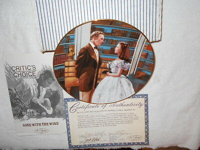 New Gone With The Wind  A Declaration Of Love Collector's Plate # 12187 C