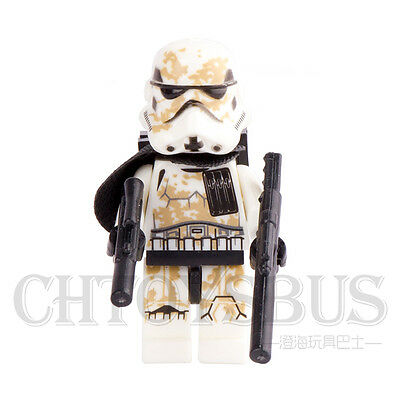 STAR WARS Desert Storm Trooper Soliders Building Blocks Minifigures Gifts Toys