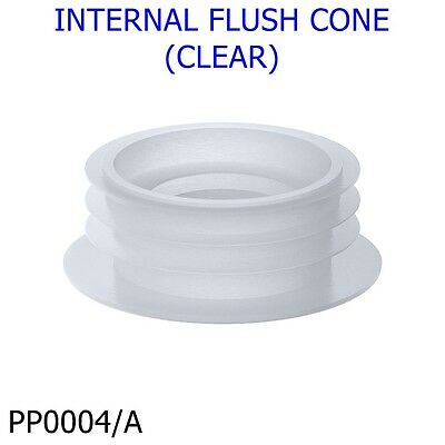 Internal Flush Cone (Clear) Rubber Sealing Washer Flush Pipe To Pan *pp0004/a*