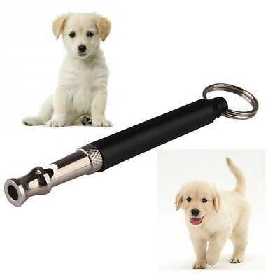 Dog Puppy Whistle Ultrasonic Pitch Sound Adjustable Key Chain Silent Training