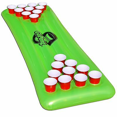 GoPong Pool Pong Table Inflatable Floating Beer Pong Table Includes 3 Pong Ba...