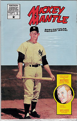 Mickey Mantle Comic #2 Factory Bagged With Mantle,josh Gibson Cards