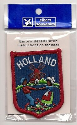 Souvenir Tourist  Patch - Country Of Holland - Blue