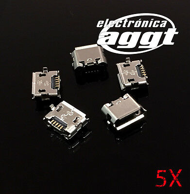 5X Conector Micro Usb Microusb Invertido Carga Female Connector Inverted Charge