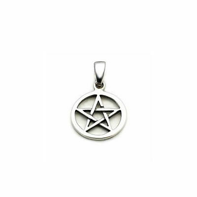 Sterling Silver Pentacle / Pentagram Pendant - PETER STONE Choose Small or Large