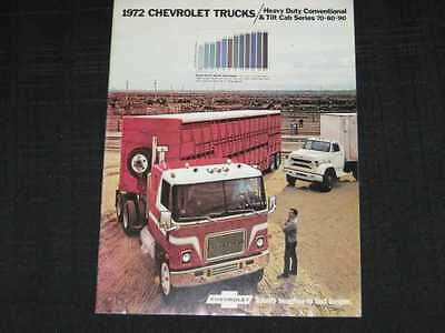 1972 Chevrolet HD 70-80-90 Truck Conventional & Tilt Sales Brochure