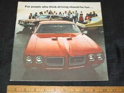 1970 Pontiac GTO, JUDGE Car Sales Catalog Brochure