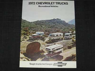 1972 Chevrolet Recreational Vehicles Sales Brochure CDN