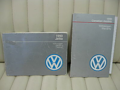 1990 Volkswagen VW Jetta  Car Owners Instruction Book Glove Box Manual