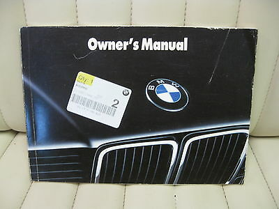 1993 BMW 740 750 Series Car Owners Instruction Book Glove Box Manual