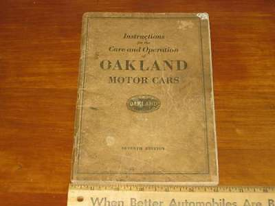 1925 Oakland Owner's Manual 7th Edition