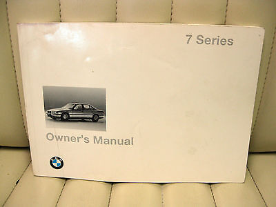 1997 BMW 7 Series Car Owners Instruction Book Glove Box Manual