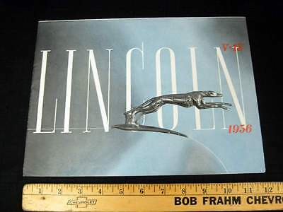 1936 Lincoln V12 Car Dealer Sales Brochure