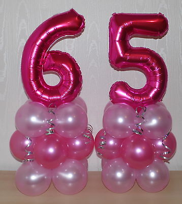 65th BIRTHDAY AGE 65 FEMALE GIRL FOIL BALLOON DISPLAY TABLE CENTREPIECE