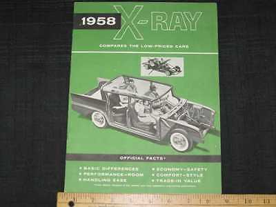 1958 Rambler X-Ray Low-Priced Cars Sales Brochure