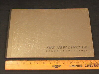 1931 LINCOLN Salon Types Hardbound Sales Brochure