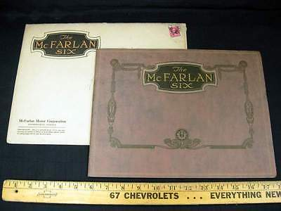 1922 McFARLAN Six Motor Car Dealer Sales Brochure Catalog w/ Envelope