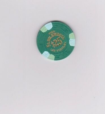 Paddlewheel $25.00 Hot Stamp Casino Chip Las Vegas Nevada