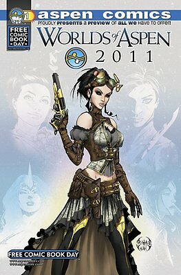 Worlds Of Aspen 2011 - Fcbd Free Comic Book Day - Rare Lady Mechanika