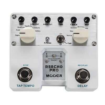 NEW Mooer Reecho Pro Dual Digital Delay Guitar Effects Pedal FREE SHIP