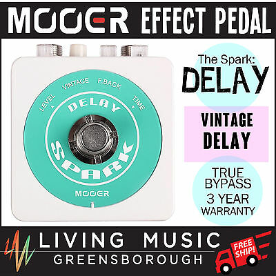 NEW Mooer Spark Delay Electric Guitar Effects Pedal True Bypass FREE SHIP