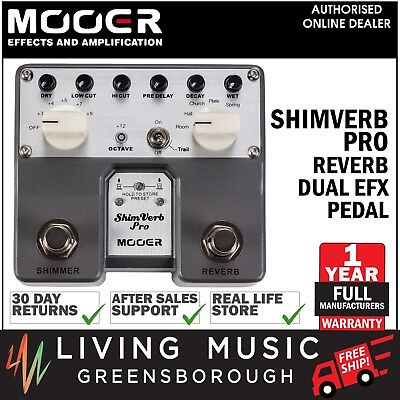 NEW Mooer ShimVerb Pro Dual Reverb Shimmer Electric Guitar Effects Pedal
