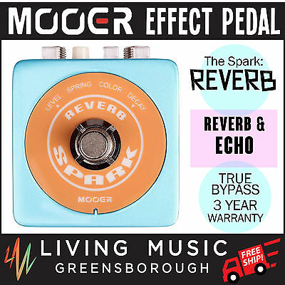 NEW Mooer Spark Reverb Electric Guitar Effects Pedal True Bypass FREE SHIP