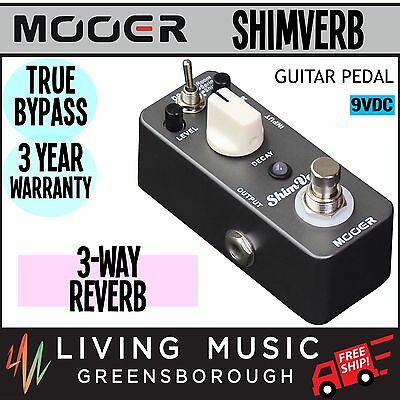NEW Mooer ShimVerb Reverb Micro Electric Guitar Effects Pedal True Bypass