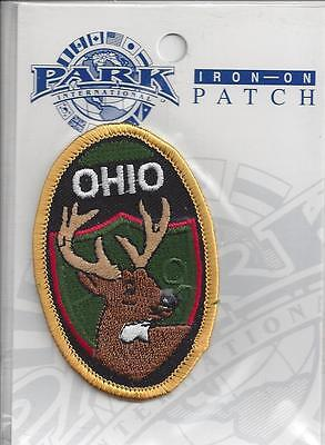 Souvenir Travel Patch - The State Of Ohio - Deer